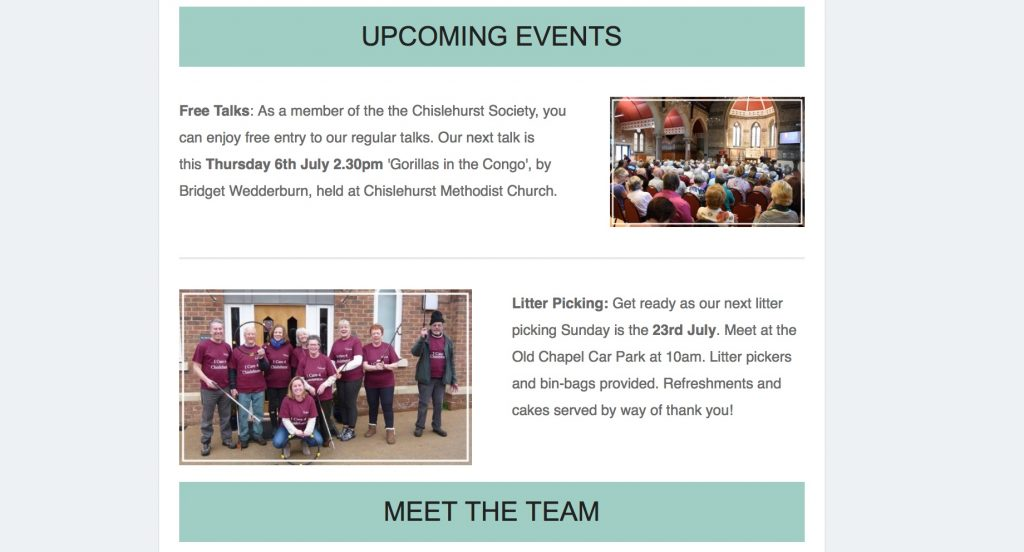 Chislehurst Society Comms